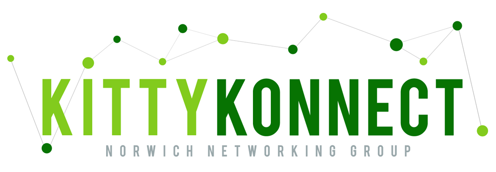 The KittyKonnect local networking lunchtime event brand image.