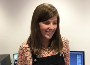 Meg Garratt is our new graphic design apprentice.